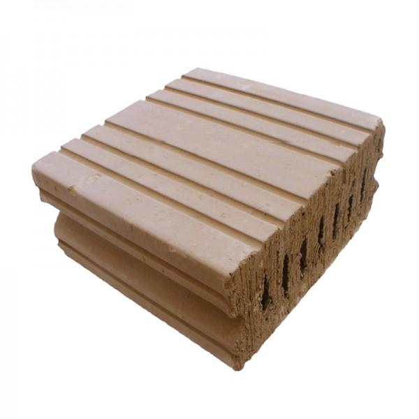 Rapidolehm Holz-Lehm-Stein 1500 15% Lochanteil AK2 DIN 18945 auf Palette
